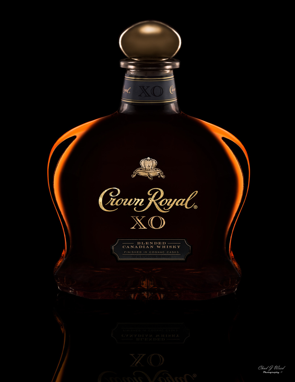 Crown Royal XO Bottle by Arizona Commercial Beverage Photographer Chad J Weed