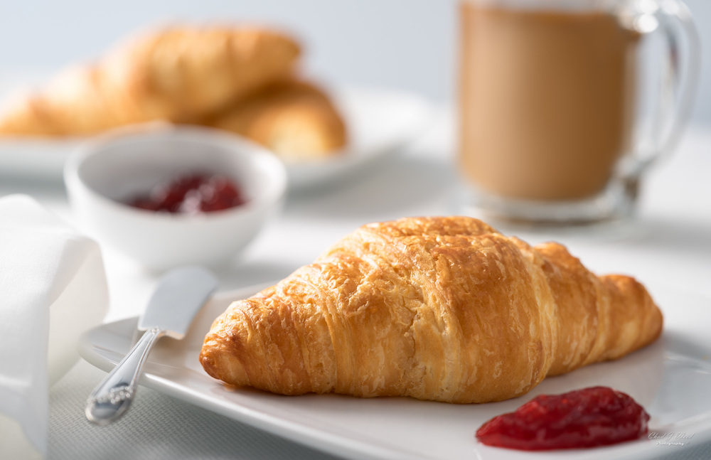 Morning Croissant by Arizona Commercial Food Photographer Chad J Weed