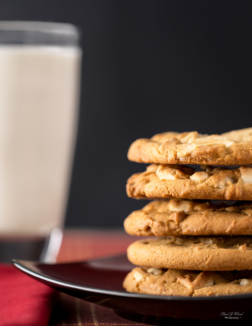Milk and Cookies by Arizona Commercial Food Photographer Chad J Weed