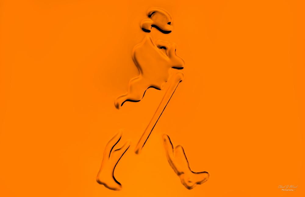 Johnnie Walker Scotch Walking Man Logo by Arizona Commercial Beverage Photographer Chad J Weed
