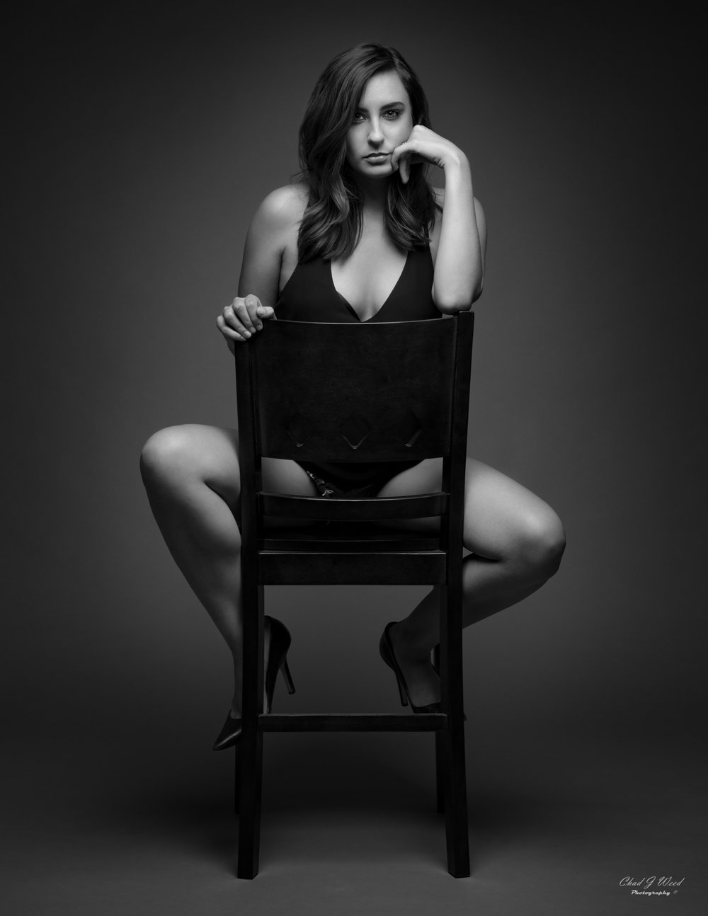 Black and White Portrait Session of Dayna by Mesa Arizona Portrait Photographer Chad Weed