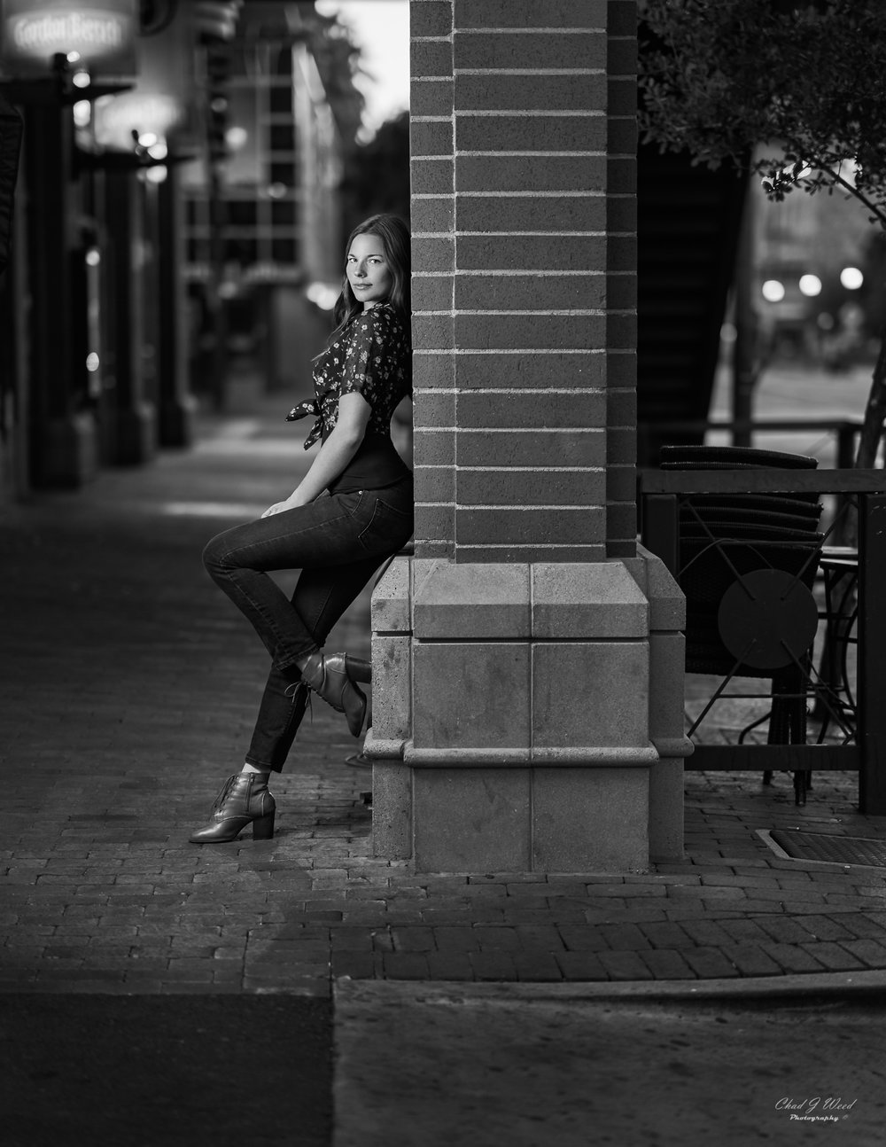 Sierra on Mill Ave by Tempe Arizona Portrait Photographer Chad Weed