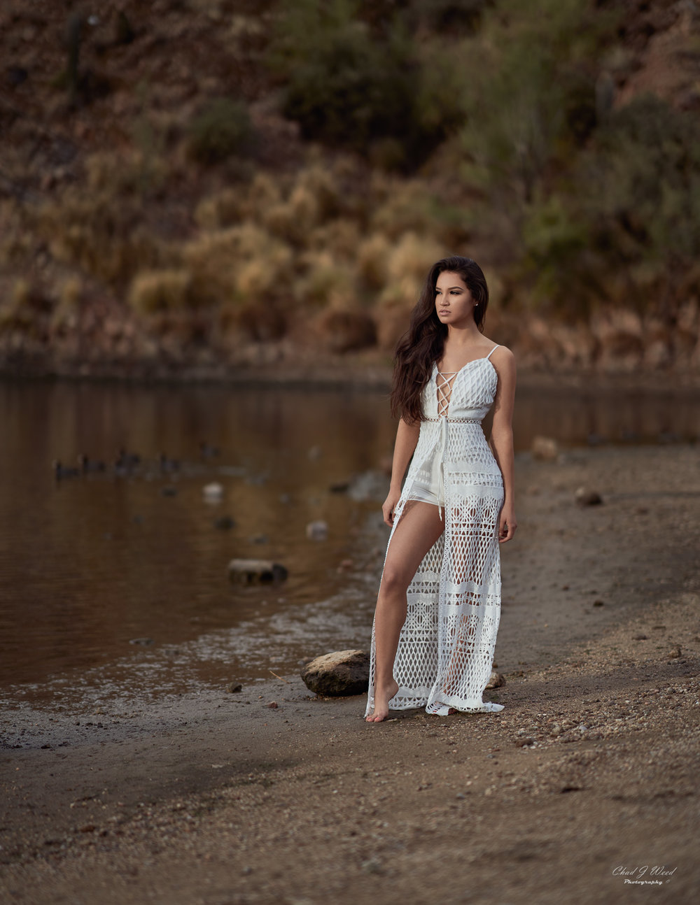Zari Fashion at Saguaro Lake by Arizona Portrait Photographer Chad Weed
