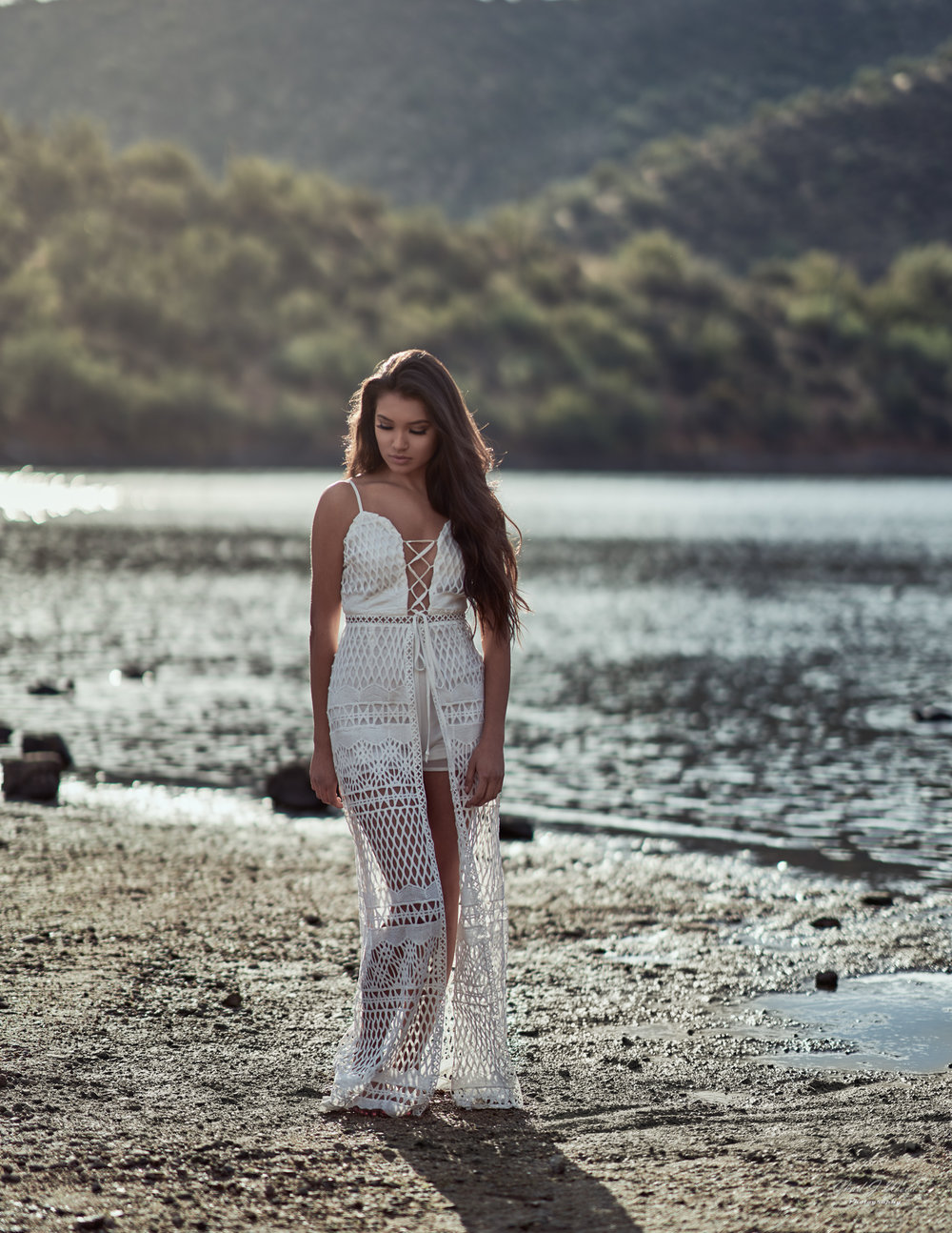 Zari Fashion Shoot at Saguaro Lake Beach by Arizona Portrait Photographer Chad Weed