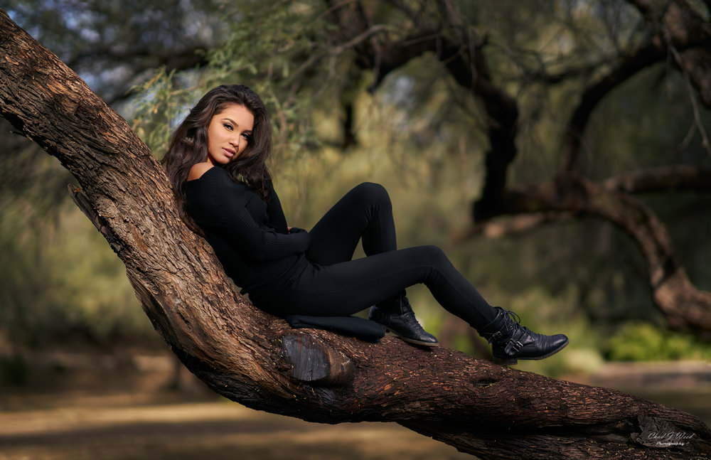 Zari Fashion Model at Saguaro Lake by Arizona Fashion Portrait Photographer Chad Weed