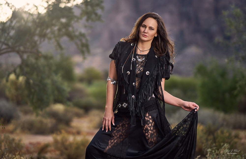 Erica Photo Shoot Superstition Mountains by Mesa Arizona Portrait Photographer Chad Weed