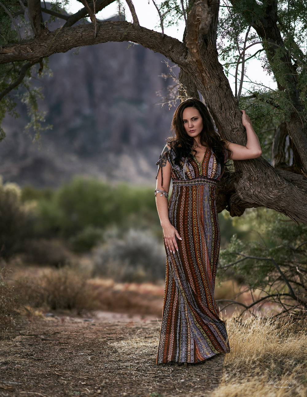 Erica Glamour Superstition Mountains by Mesa Arizona Portrait Photographer Chad Weed