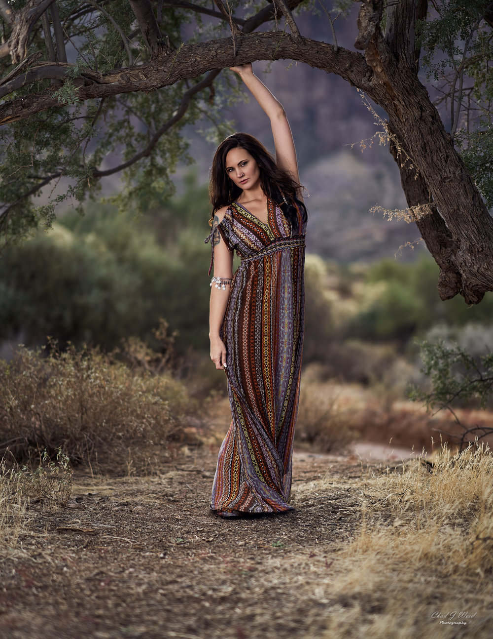 Erica Beauty Superstition Mountains by Mesa Arizona Portrait Photographer Chad Weed