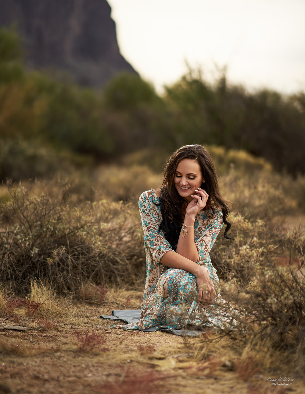 Erica's Editorial 3 at Superstition Mountains by Mesa Arizona Portrait Photographer Chad Weed