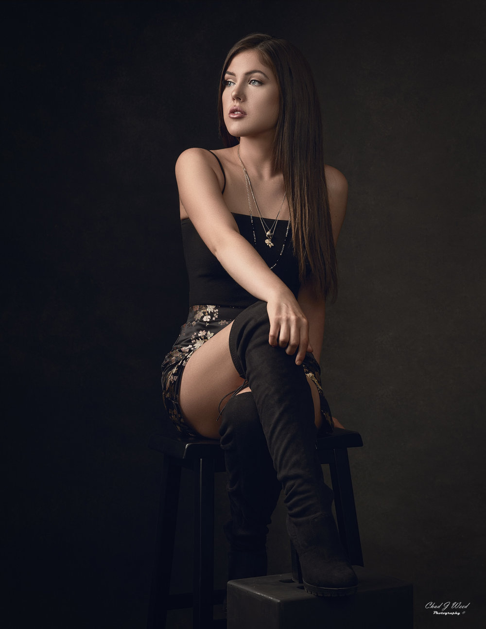 Arizona Fashion Photographer Chad Weed with Fashion Model Jasmine - Black Skirt 2