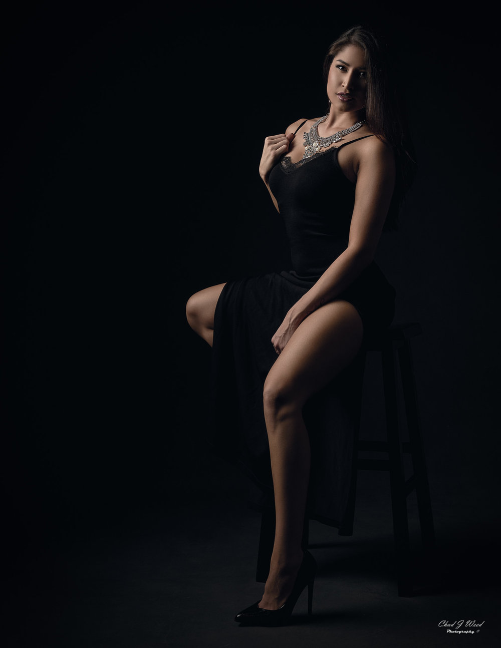 Arizona Fashion Photographer Chad Weed with Fitness Model Ashly - Black Dress 1