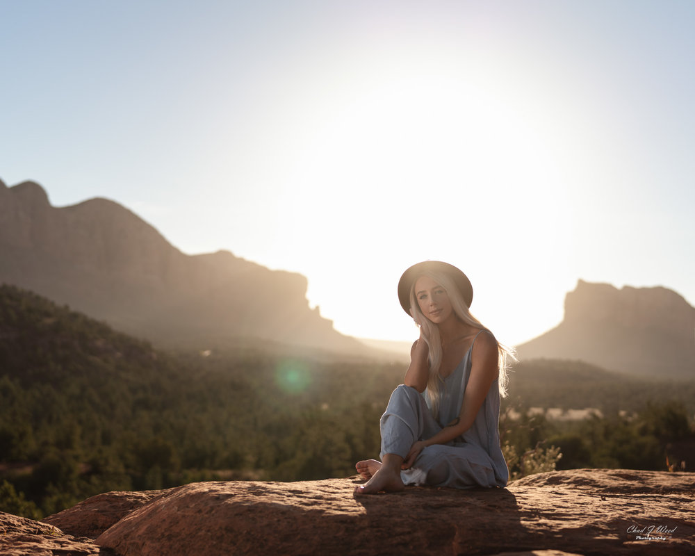 Arizona Fashion Photographer Chad Weed With Ashyln In Sedona, Arizona