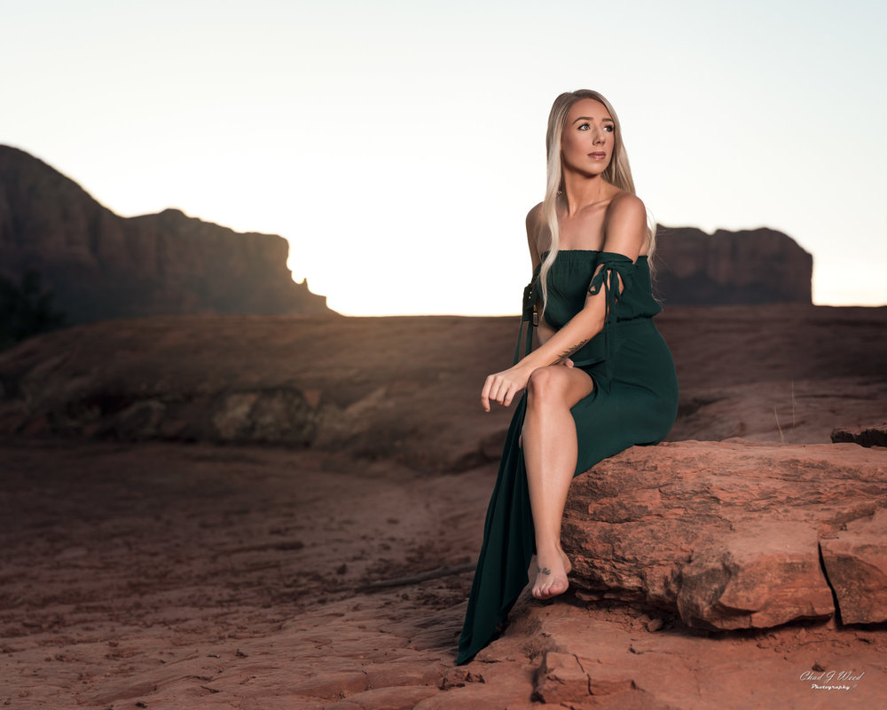 Arizona Fashion Photographer Chad Weed With Fashion Model Ashyln In Sedona