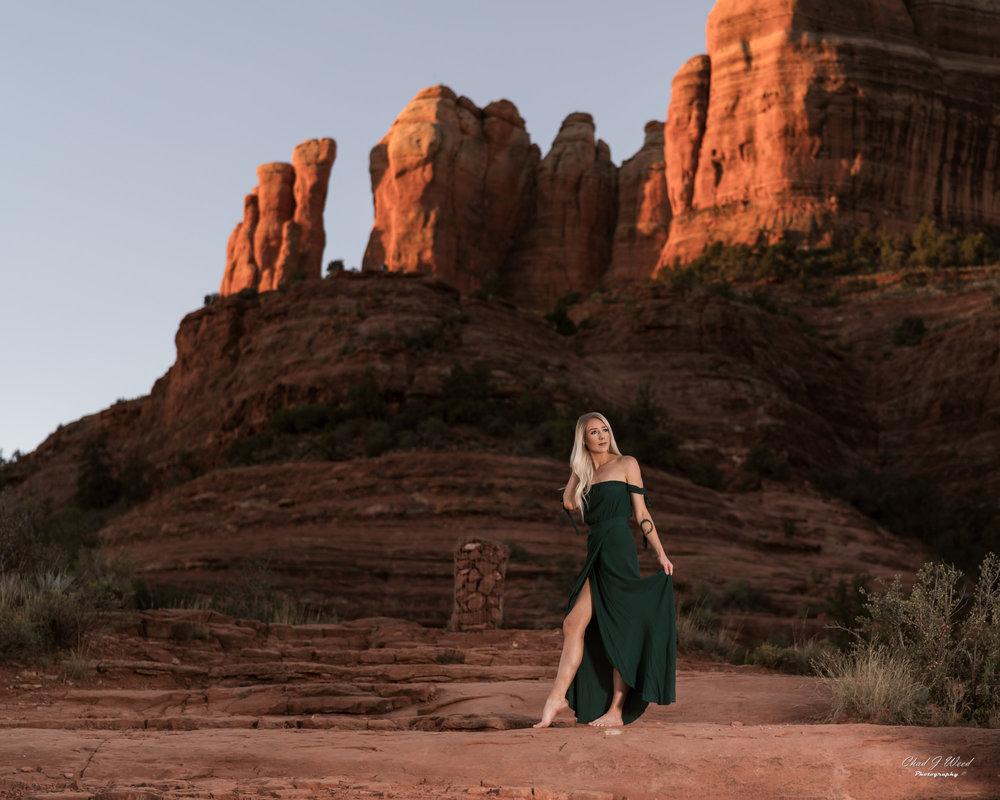 Arizona Fashion Photographer Chad Weed With Fashion Model Ashyln In Sedona 2