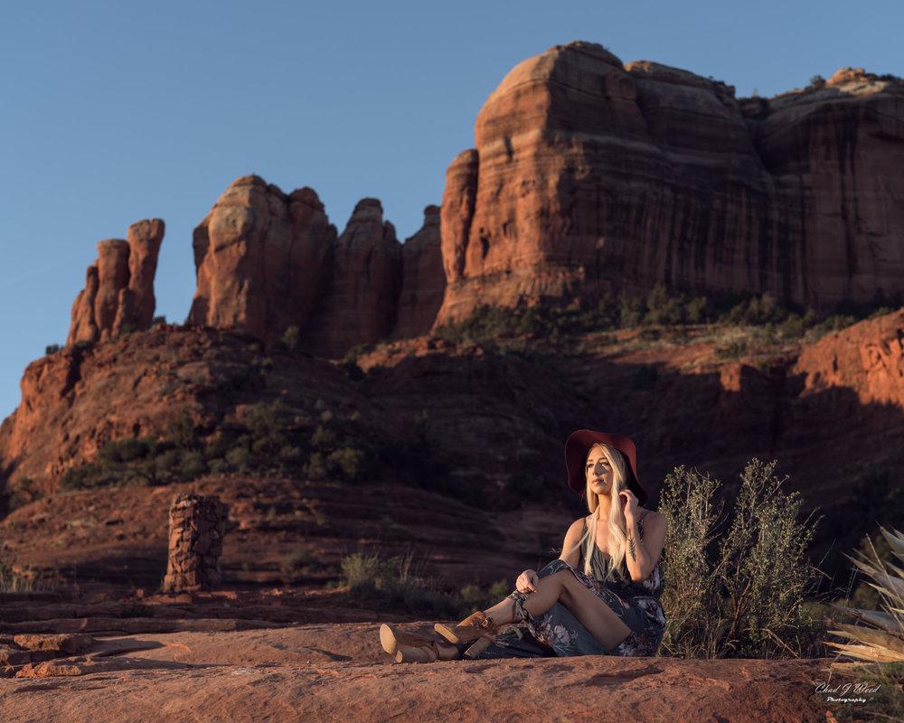 Arizona Fashion Photographer Chad Weed With Model Ashyln In Sedona 2