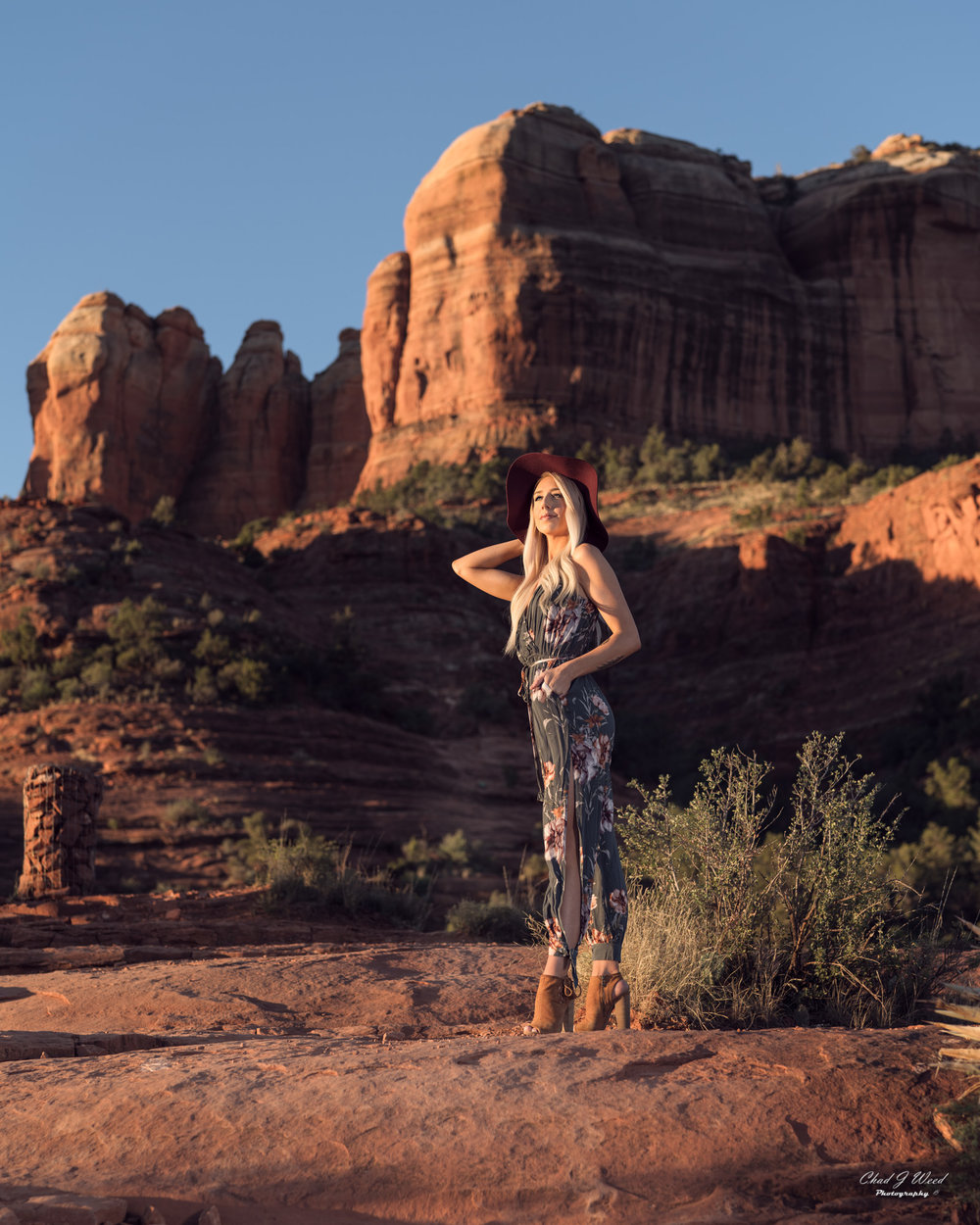 Arizona Fashion Photographer Chad Weed With Model Ashyln In Sedona
