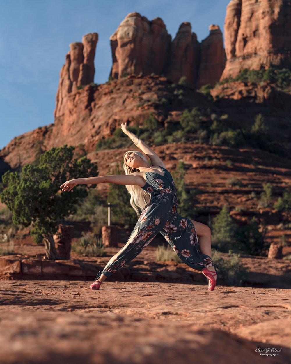 Arizona Fashion Photographer Chad Weed With Dance Model Ashyln In Sedona Arizona