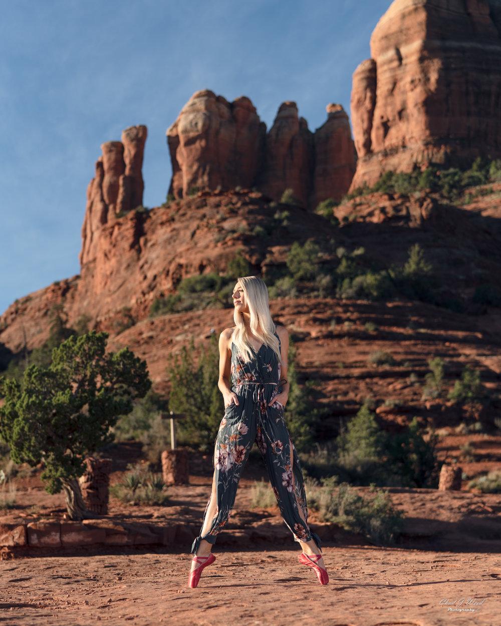 Arizona Fashion Photographer Chad Weed With Dance Model Ashyln In Sedona
