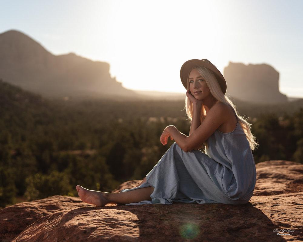Arizona Portrait Photographer Chad Weed With Model Ashyln In Sedona