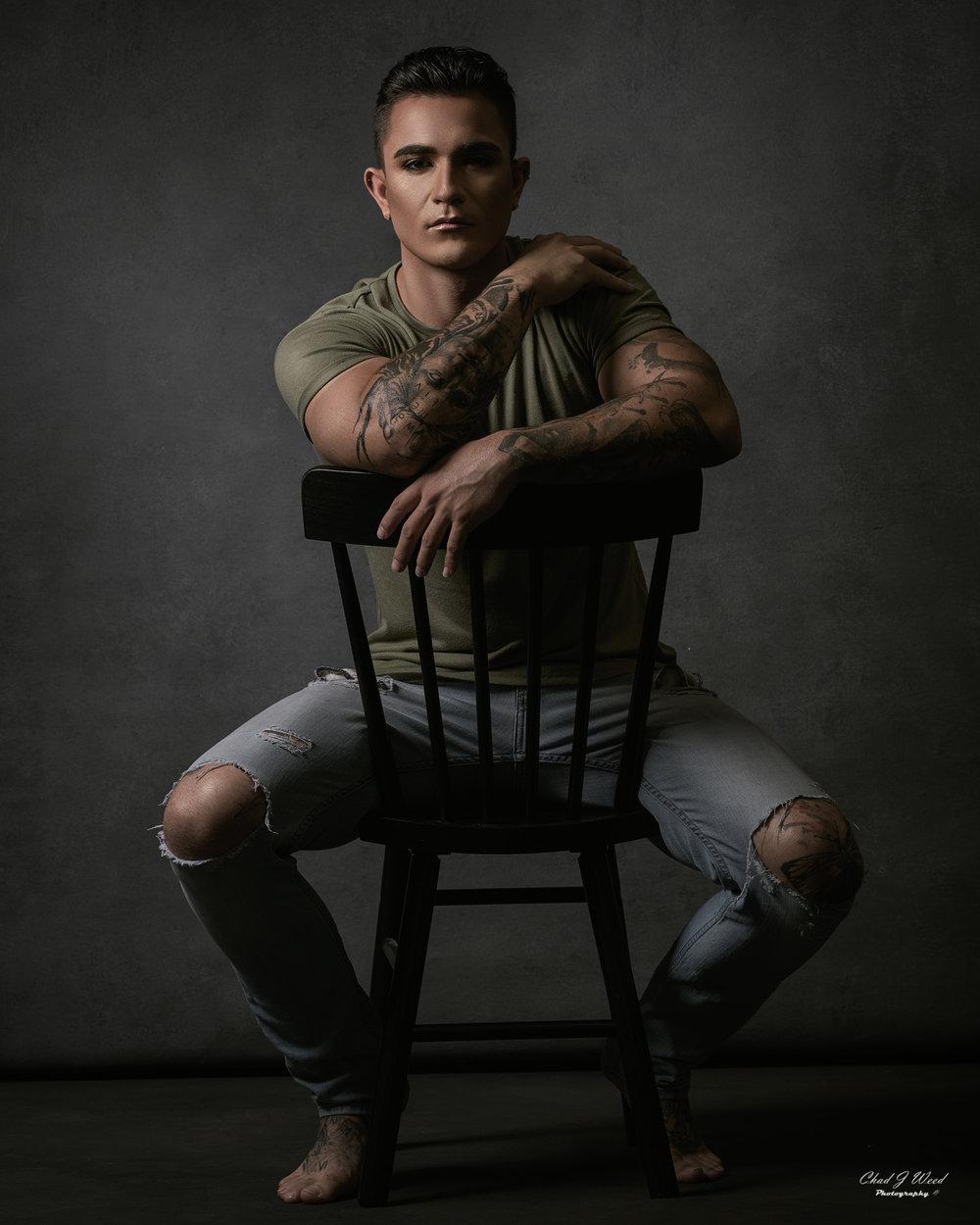 Arizona Glamour Portrait Photographer Chad Weed with Model Isaac