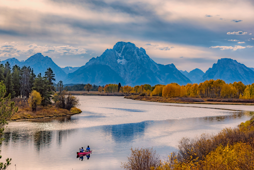 Paddling on the Snake River