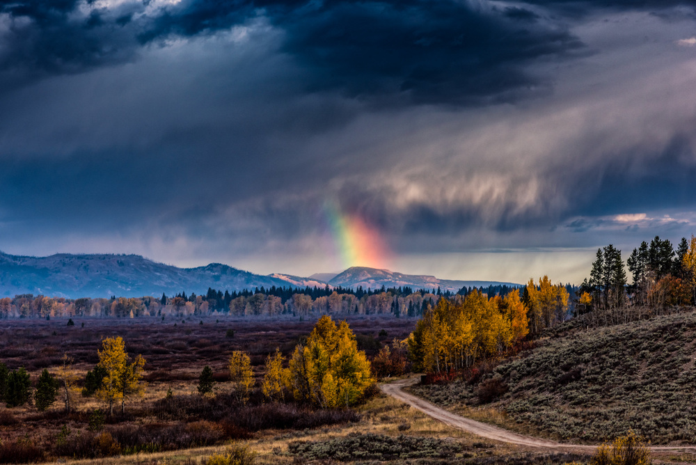 Rainbow at the Tetons