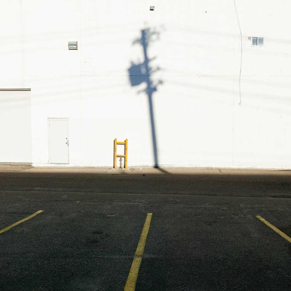 Alley Wall with Shadow, Edmonton, 2006
