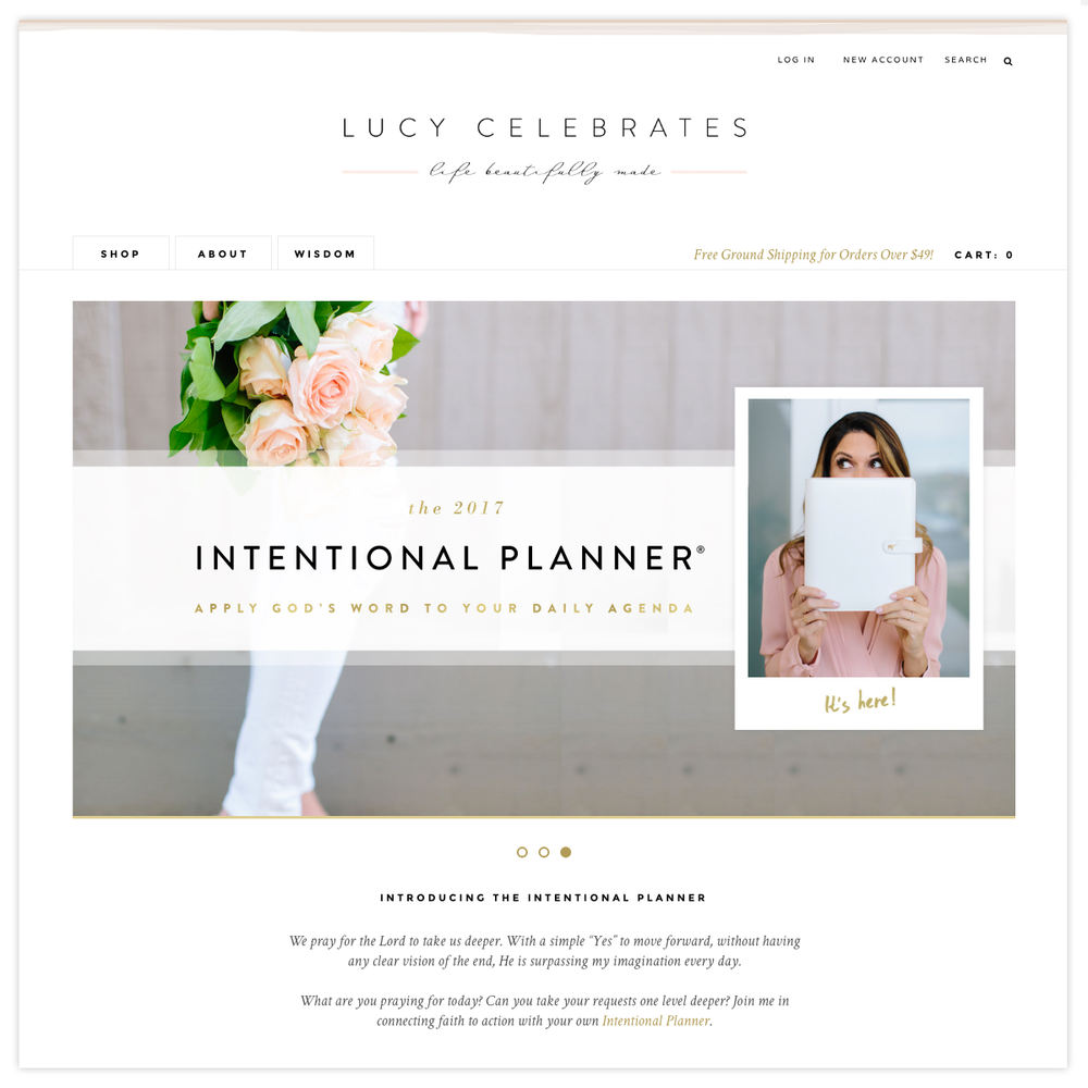 Lucy Celebrates |  Visit the Site