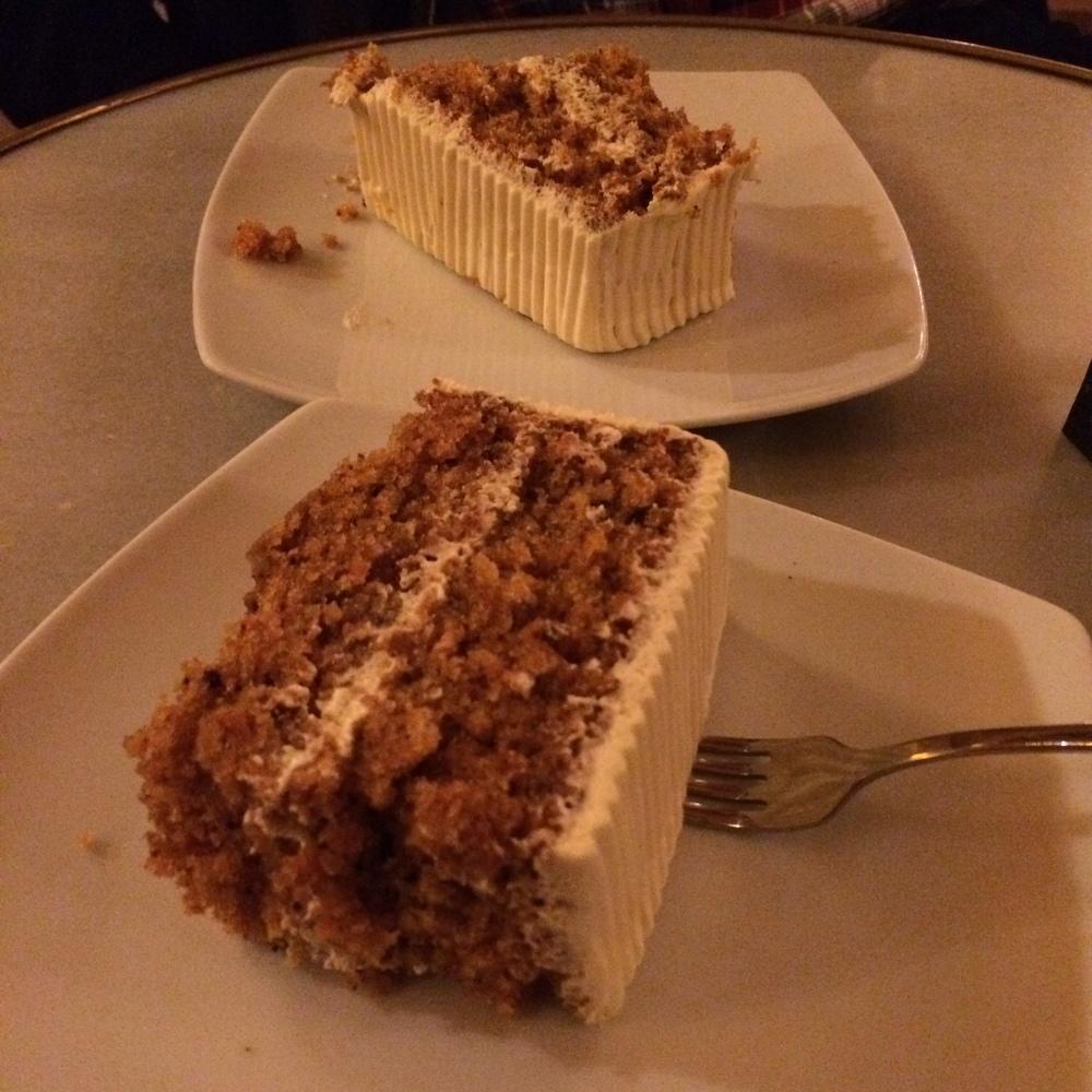 Café del Real   tarta de zanahoria