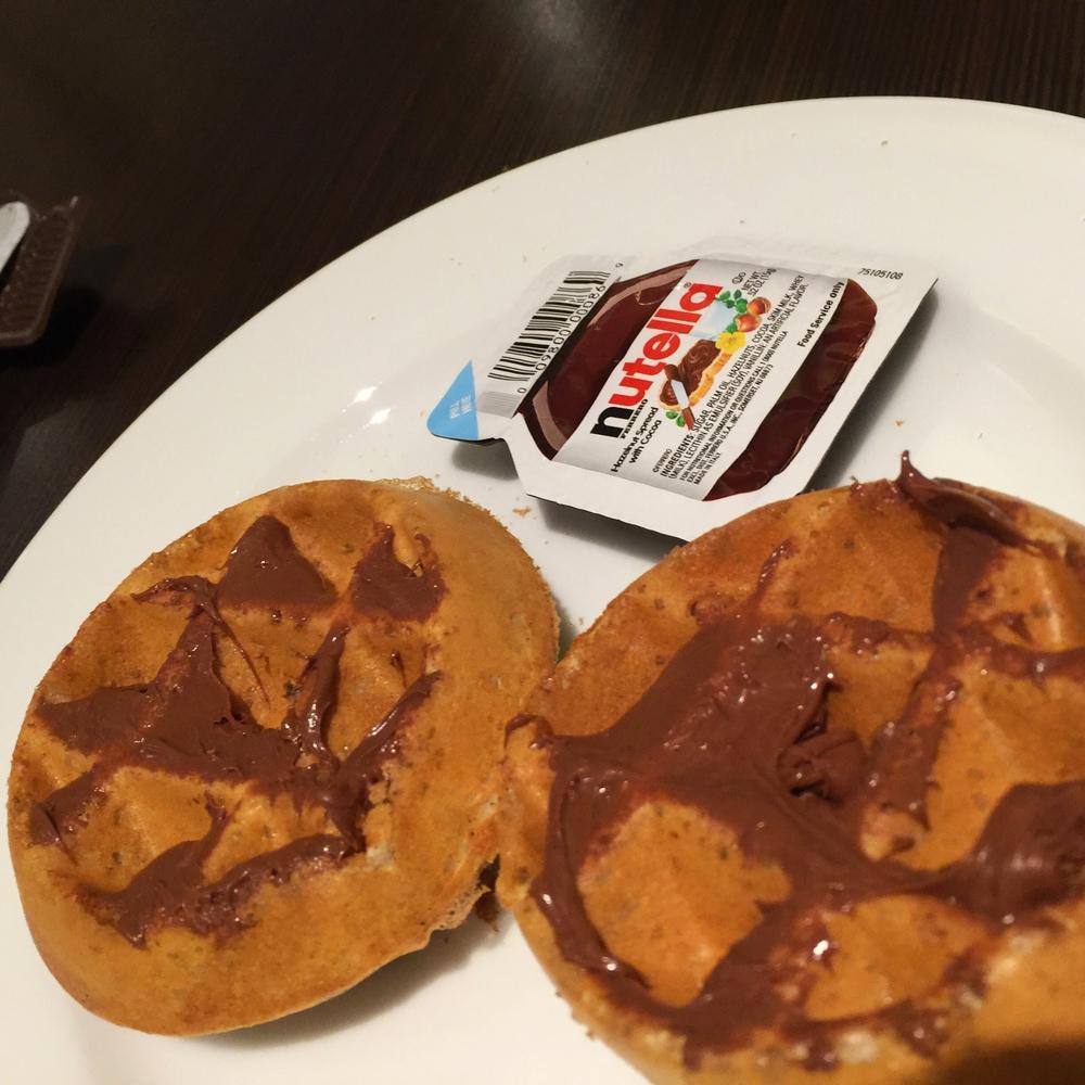 US waffles e nutella