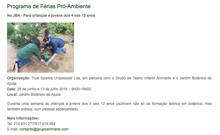Jardim Botânico da Ajuda (ISA)