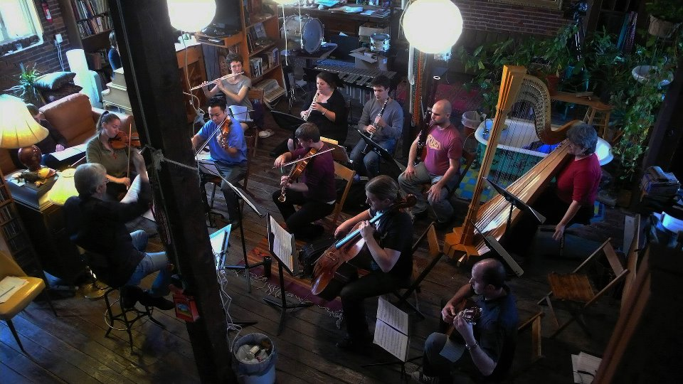 Rehearsing under Cliff Colnot in the Conductors Festival, 2011
