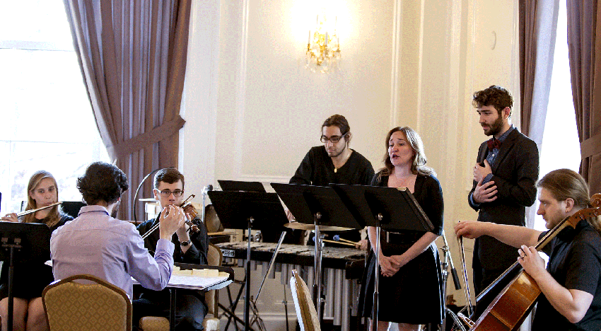 Alia Musica performing at the University Club (University Pittsburgh), 2015