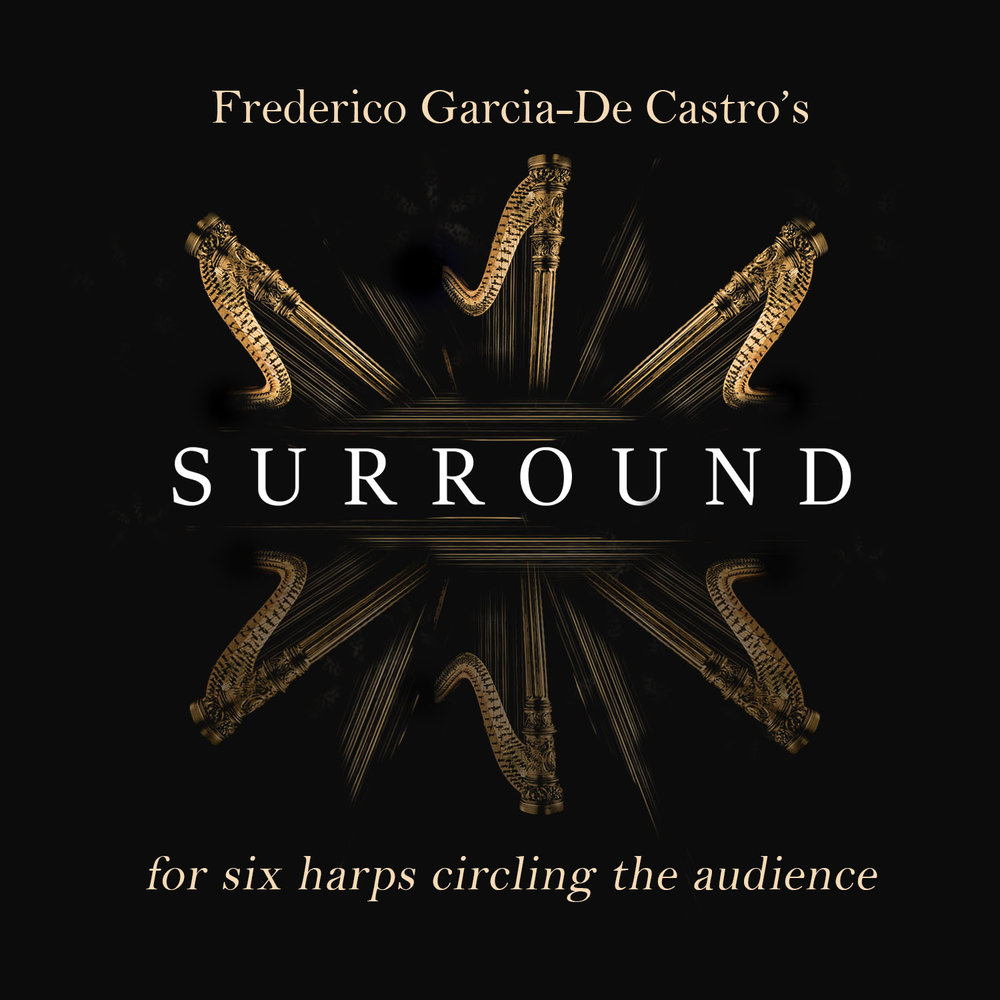 Surround, for 6 harps encircling the audience