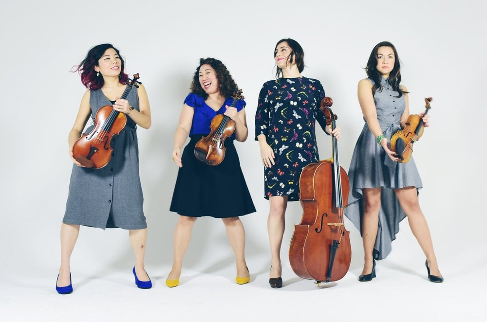 """Aizuri quartet: """"a meld of intellect, technique and emotions"""" (The Washington Post)"""