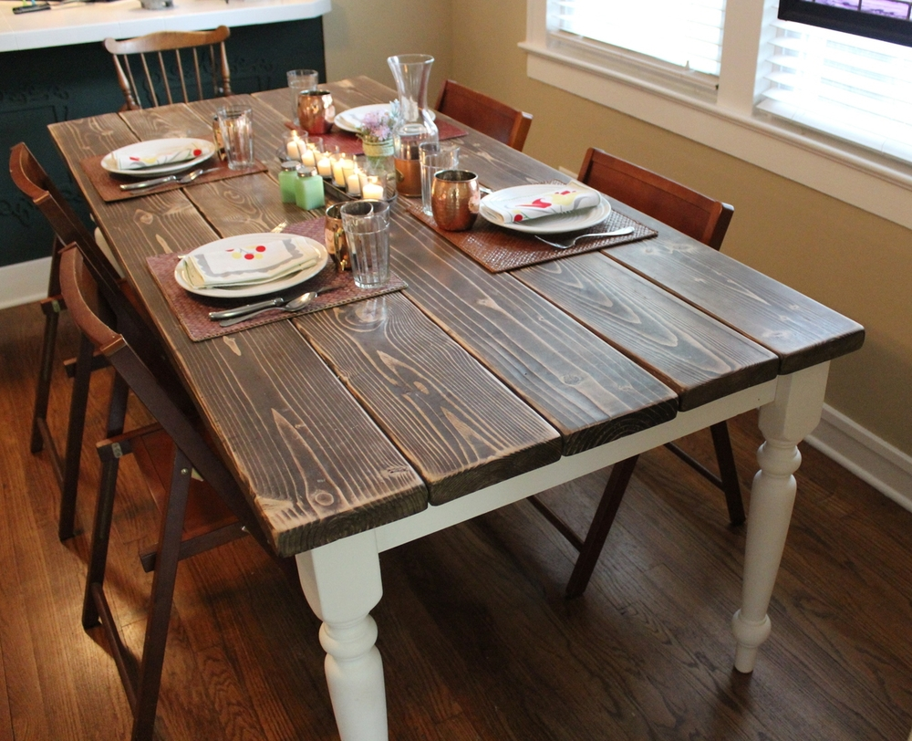 Diy farmhouse table squid birch for How to build a wooden table from scratch