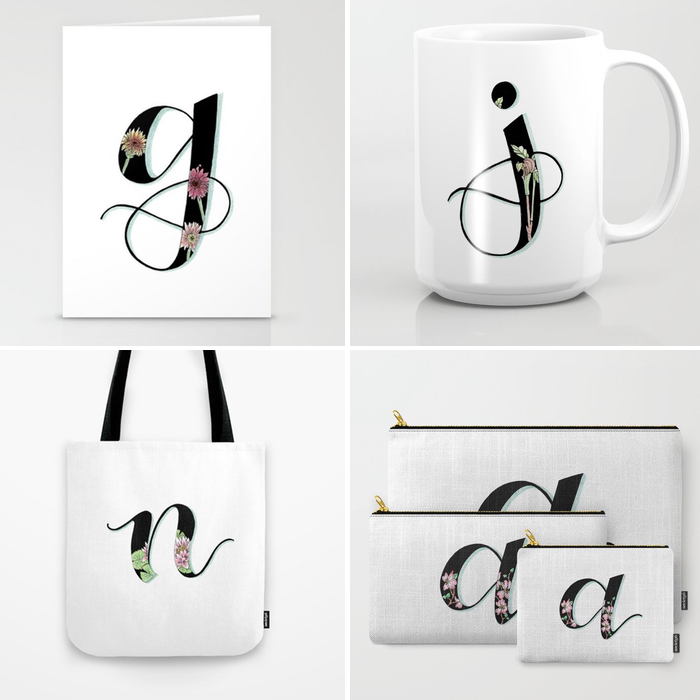 Shop single letter designs at Society6