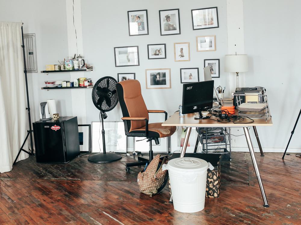Brae's workspace.
