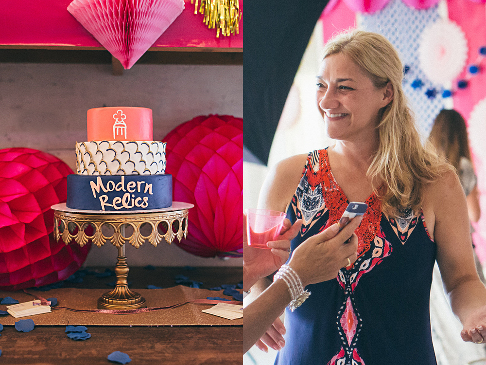 A cake to show off the Modern Relics branding, and Angela! Photos by Justin Johnson Photography.