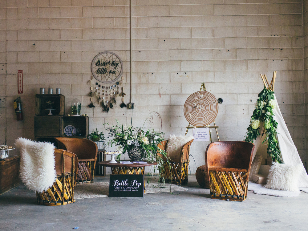 Vignette styling by Bottle Pop at Modern Relics' launch. Photo by Justin Johnson Photography.