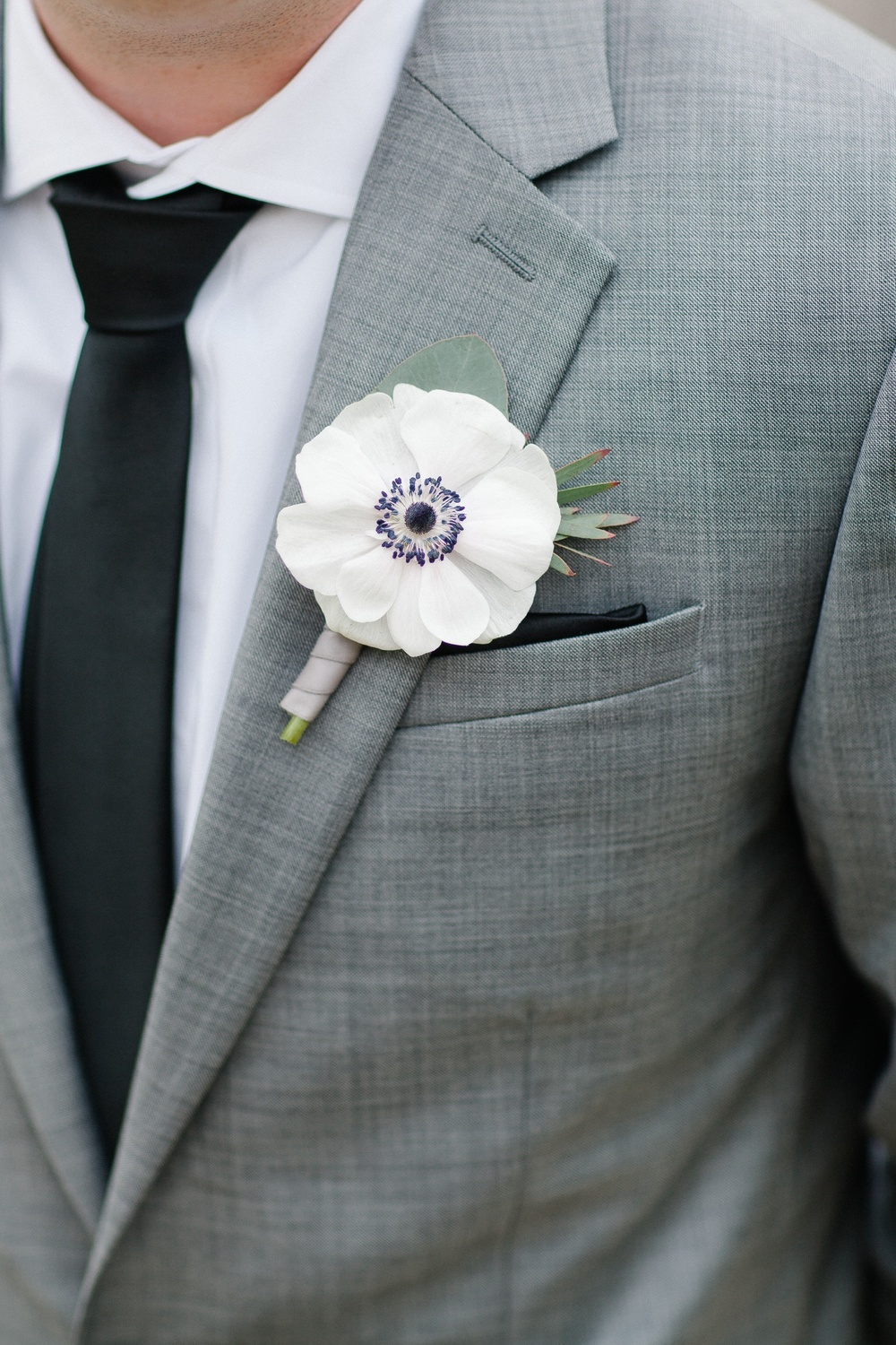 Anemone boutonniere from Kate Farley