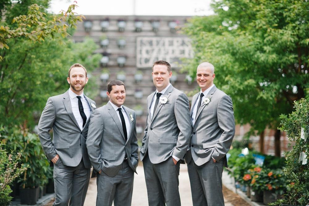 Grey suit groom style