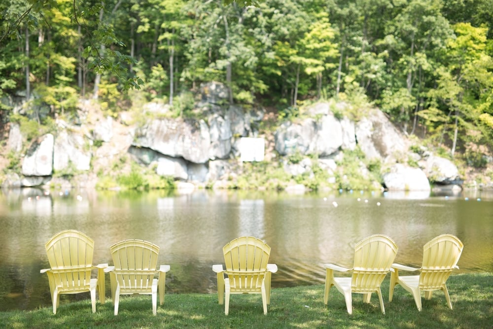 Lake Wedding at Camp Green Lane in Pennsylvania :: Heart & Dash :: Jessica Osber Photography