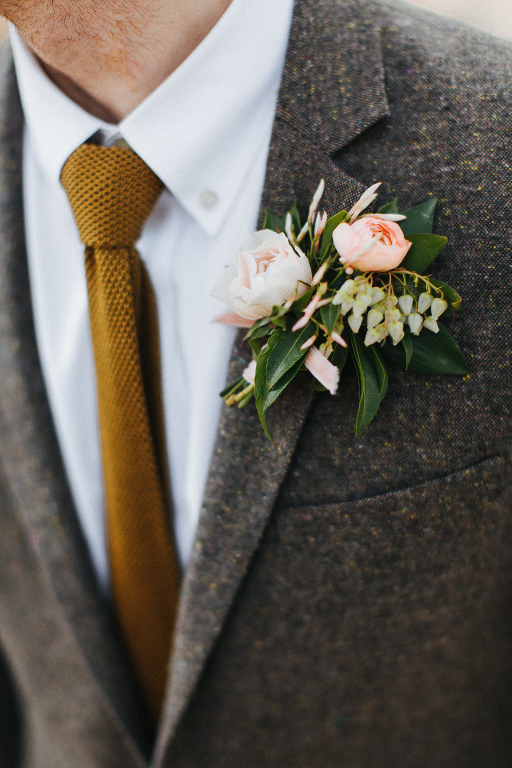 Tweed suit for the groom at a camp wedding at Cedar Lakes Estate with Heart & Dash and The More We See