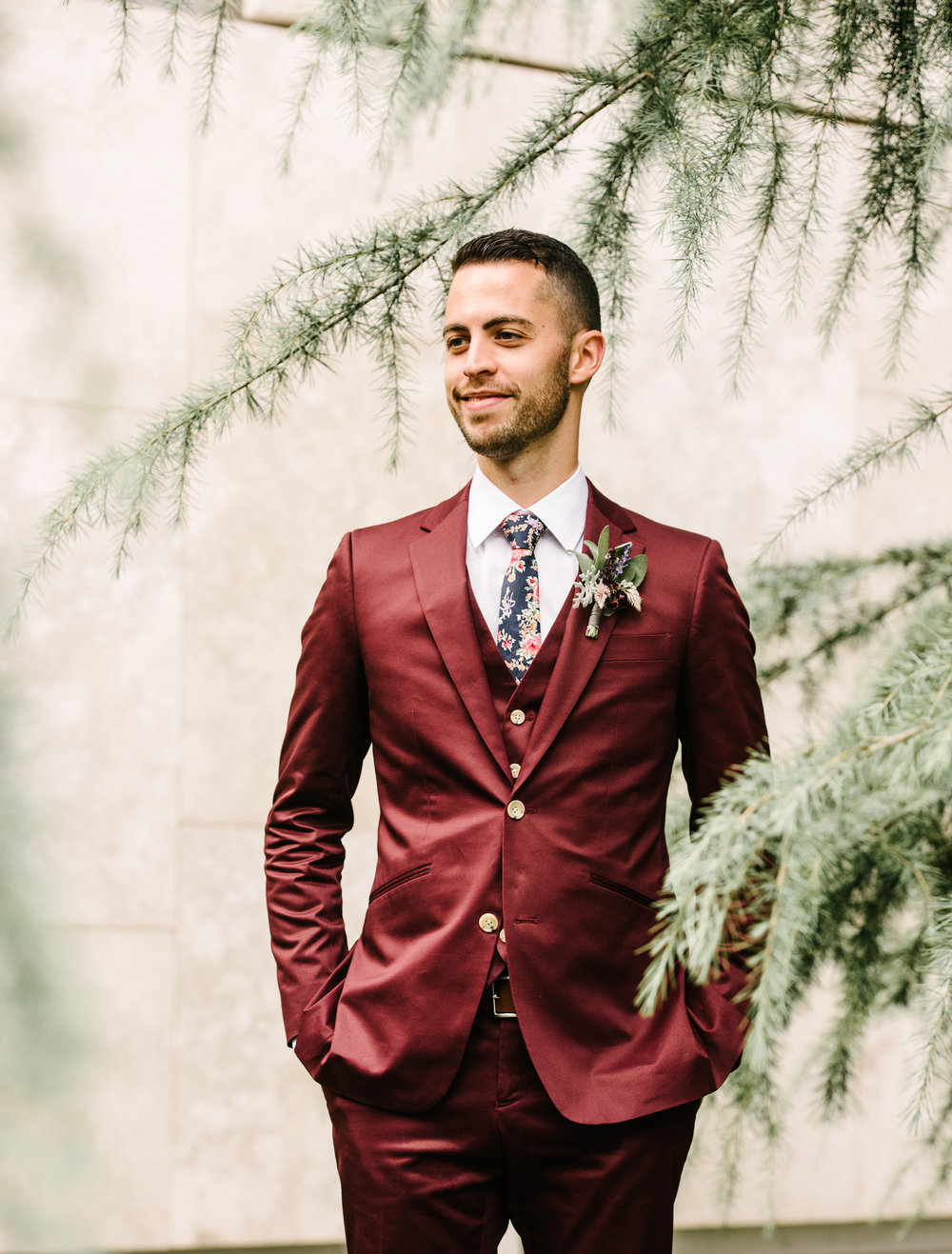 Groom style at Maas Building in Indochino suit | Philadelphia Wedding Planner Heart & Dash | AGP Collective | Maas Building Wedding