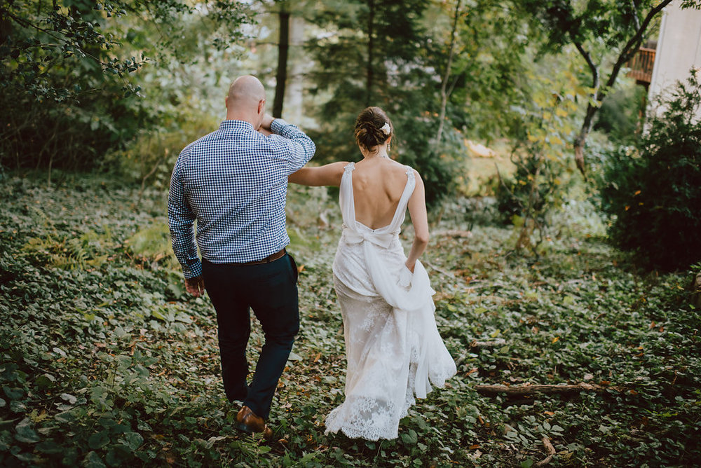Faunbrook Bed & Breakfast intimate wedding in West Chester, Pennsylvania :: wedding planner: Heart & Dash :: Pat Robinson Photography