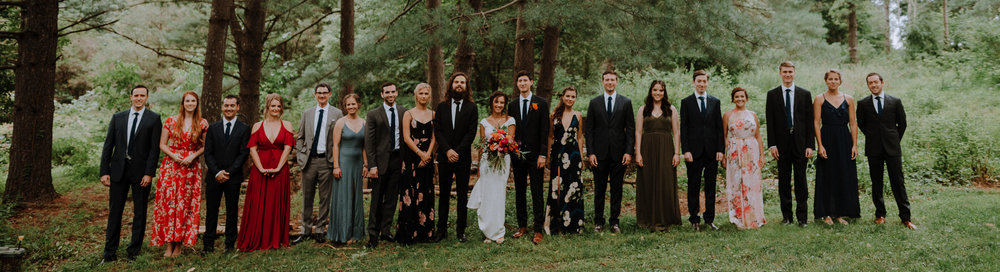 Colorful wedding party with gorgeous patterned dresses and mix matched suits :: Wedding Planner - Heart & Dash :: Photography - Pat Robinson Photography :: Bucks County Pennsylvania