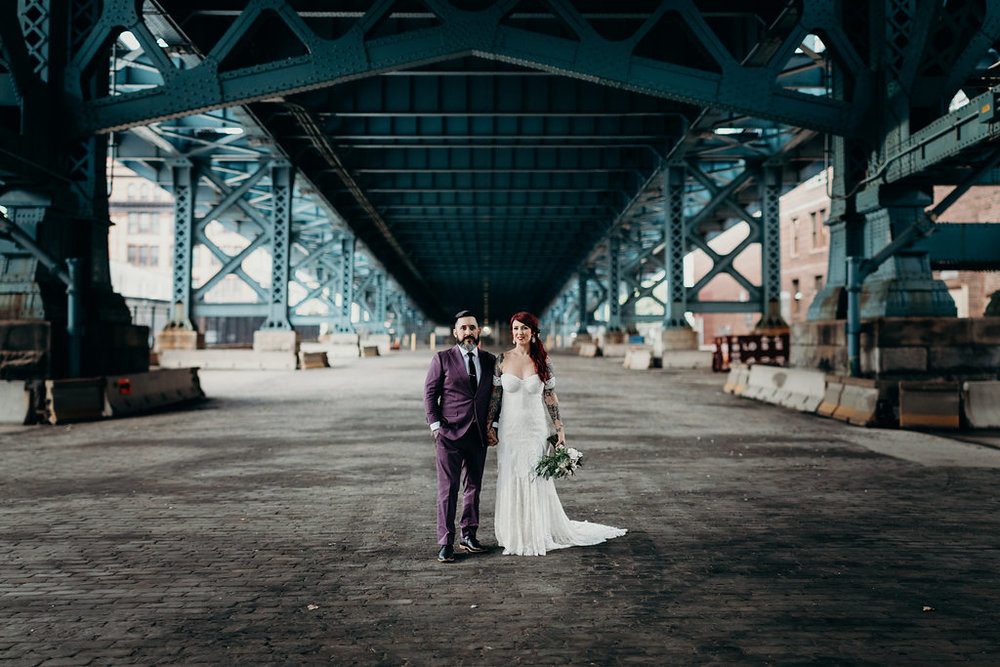 Philadelphia wedding with tattooed bride and groom planned by wedding planner Heart & Dash