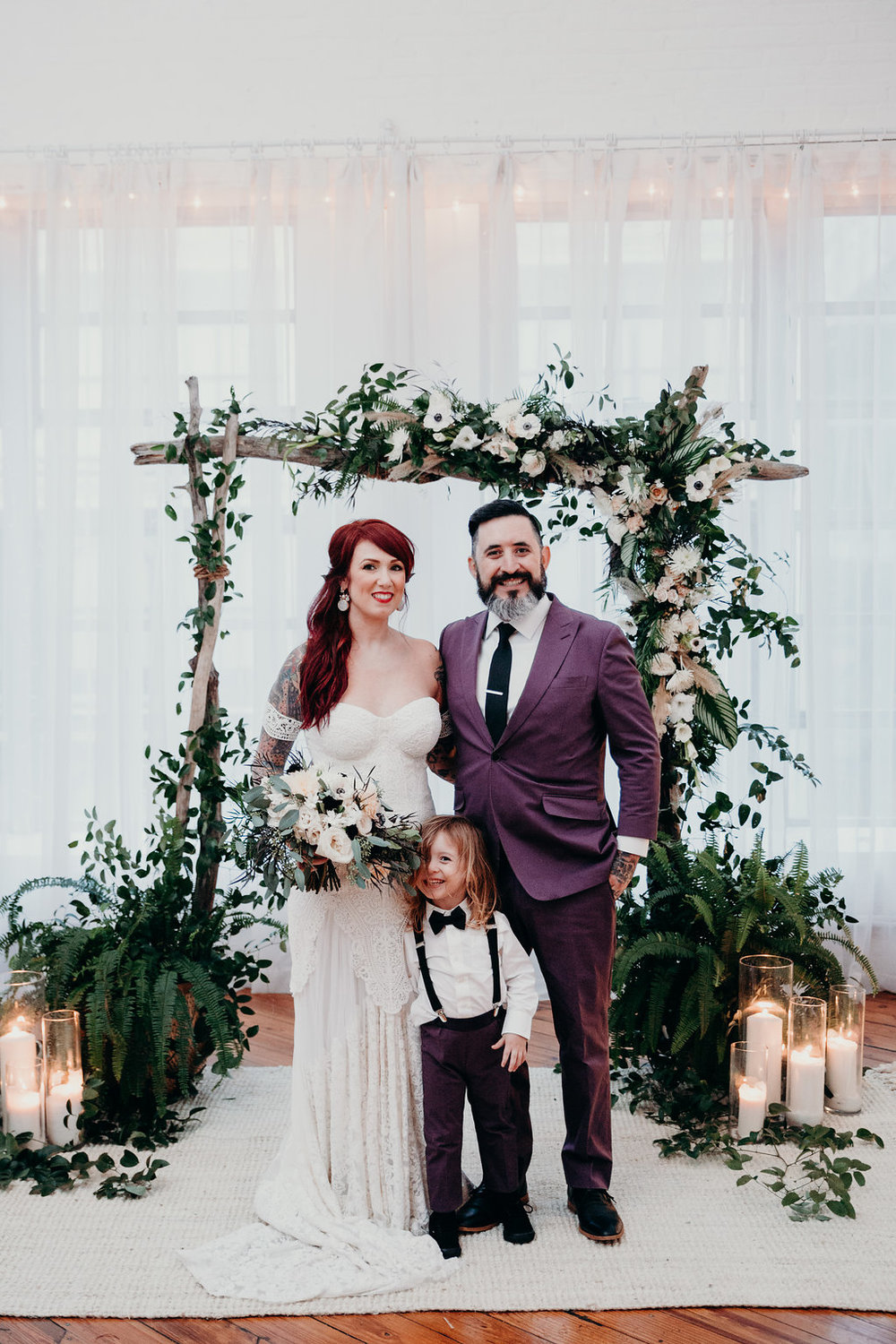 Non-traditional Philadelphia wedding with wedding planner Heart & Dash at Power Plant