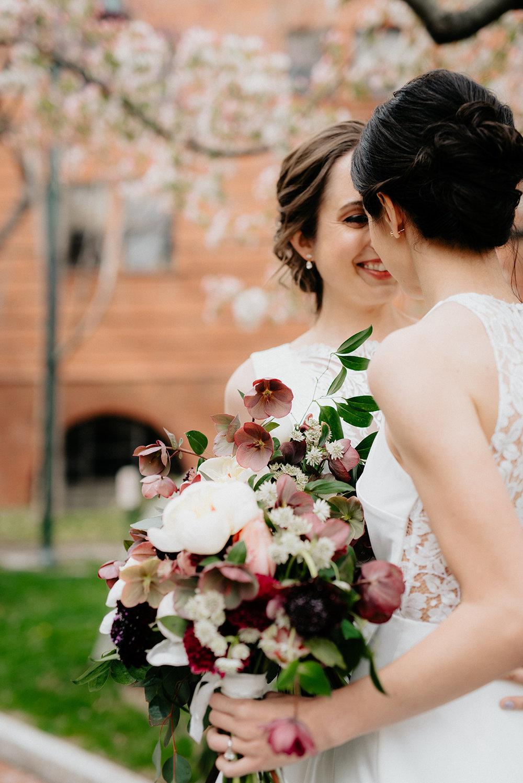 University of Penn Museum spring wedding wth two brides in Philadelphia with wedding planner Heart & Dash